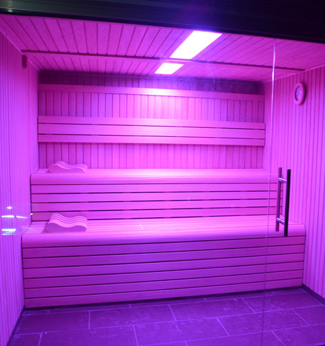 sauna at Nuku Spa in Hotel Acevi Val d'Aran
